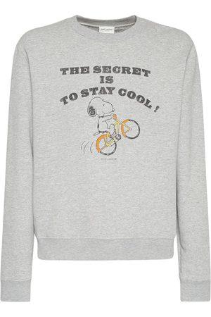 Saint Laurent Sweatshirt Aus Baumwolle Mit Druck