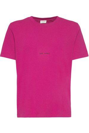 Saint Laurent T-shirt Aus Baumwolle Mit Logo