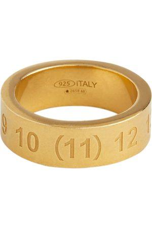 Maison Margiela Gravierter Ring aus Sterlingsilber