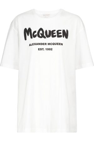 Alexander McQueen T-Shirt aus Baumwoll-Jersey