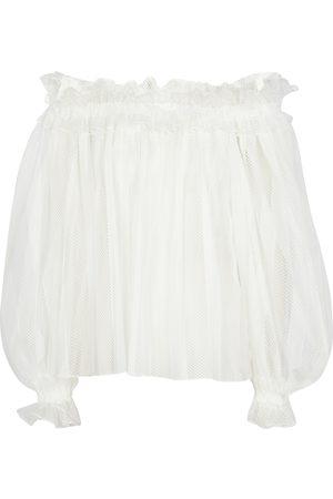Alaïa Off-Shoulder-Bluse aus Mesh