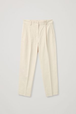 COS PLEATED LINEN PANTS