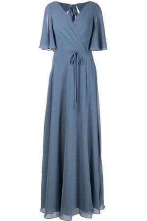 Marchesa Notte Damen Kleider - Schulterfreie Robe mit Blumenstickerei