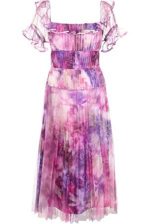 Marchesa Notte Schulterfreies Kleid - Mehrfarbig