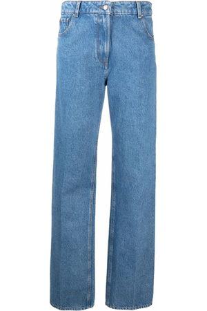 Nina Ricci Damen Straight - Gerade High-Rise-Jeans