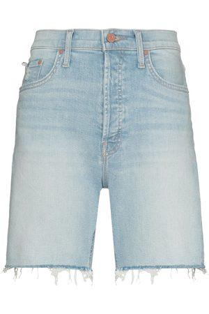 Mother Jeans-Shorts mit ausgefransten Kanten