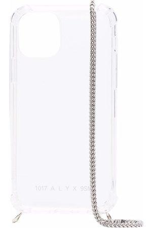 1017 ALYX 9SM Transparente iPhone 12-Hülle mit Kette - Nude