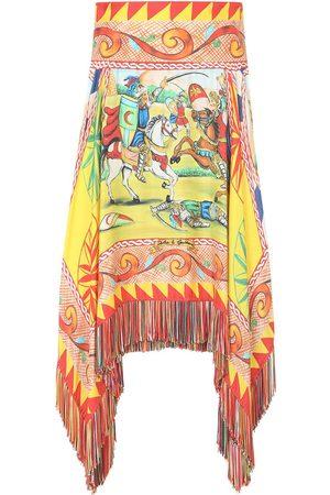 Dolce & Gabbana Asymmetrischer Rock mit Print