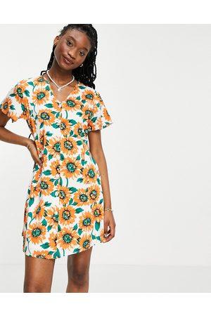 Daisy Street – Minikleid mit Sonnenblumenmuster