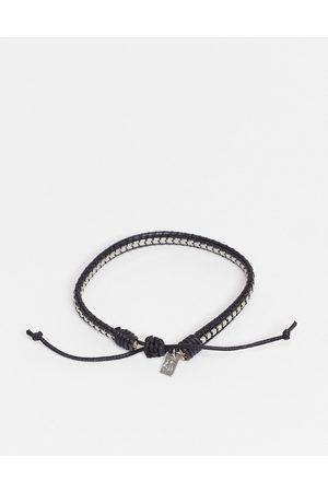Icon Brand – Armband aus Kette und Kordel im Box-Design in