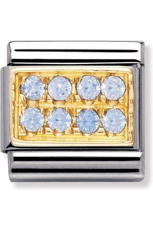 Nomination Armbänder - Classic - PAVE Edelstahl, 18K-Gold und Cubic Zirc. (HELLBLAU)