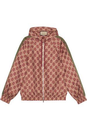 Gucci Jacke aus Seide mit GG Supreme-Print