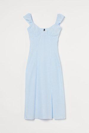 H&M Damen Midikleider - Kleid mit Schlitz