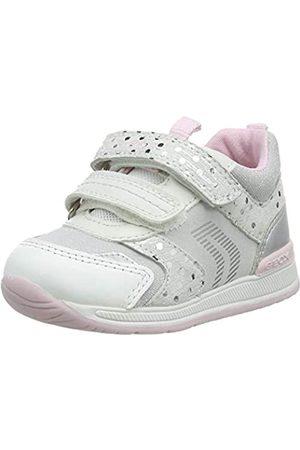 Geox Baby-Mädchen B RISHON Girl A First Walker Shoe, White/Silver