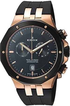 EDOX Herren Analog Quarz Uhr mit Gummi Armband 10110 357RNCA NIR