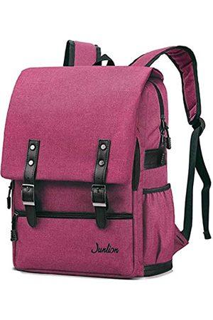 Junlion Herren Laptop- & Aktentaschen - Einfarbig Laptop Rucksack für Studenten Lässiger Rucksack Canvas Reisetasche für Adrett Frau und Mann