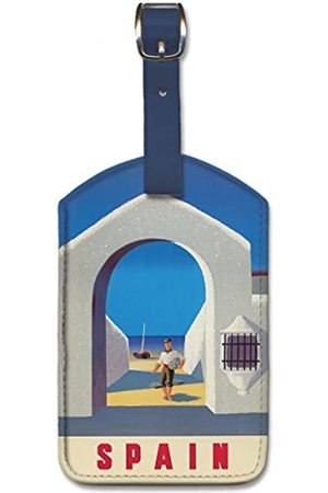 Pacifica Island Art Leatherette Luggage Baggage Tag - Spain by Guy Georget
