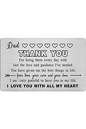 Yobent Vatertagsgeschenke für Vater, gravierte Brieftaschen-Karte für Männer, Dankeschön, Vatertagsgeschenke