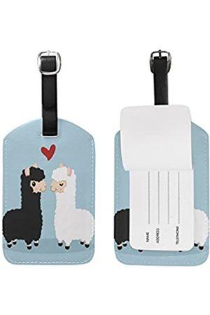 SEULIFE Gepäckanhänger, süßes Llama Love Reisekoffer