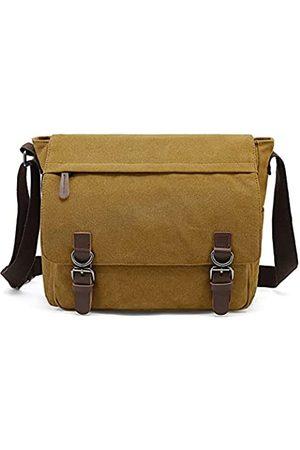 Sechunk Canvas Leather Messeng Bag Shoulder bag Cross body bag Crossbody small (Yellow