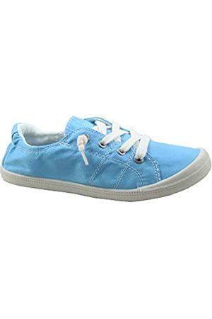 Generic FZ-Comfort-01 Damen Süße Komfort Slip On Flache Ferse Runde Zehen Sneaker Schuhe, (hellblau)