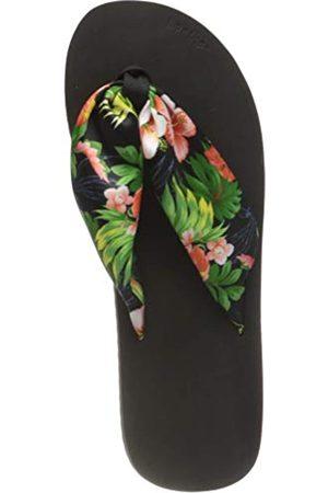 flip*flop Damen Tex Tube Tropics Sandalen, black