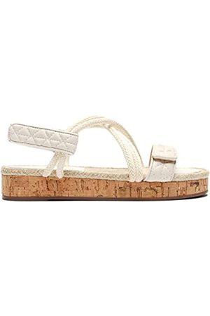 Schutz Flache Damen-Sandalen, Weiß (Zuckerweiß)