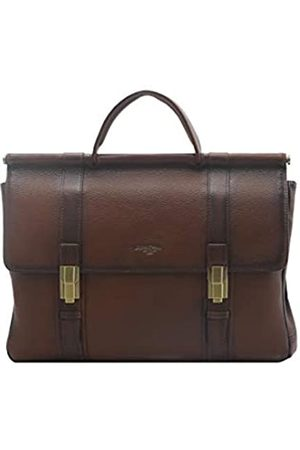 Giorgio Ferretti Große Herren Leder Aktentasche Made in Italy Echtleder Herren Leder Laptop Aktentasche
