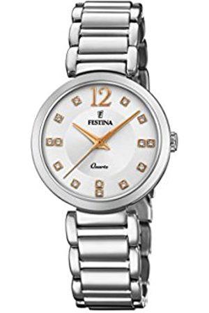 Festina Damen Analog Quarz Uhr mit Edelstahl Armband F20212/3