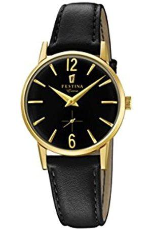 Festina Damen Analog Quarz Uhr mit Leder Armband F20255/3