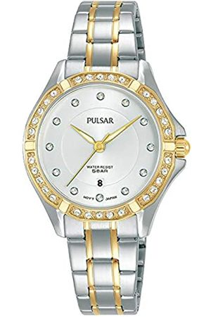 Pulsar Damen Uhren - Damen Analog Quarz Uhr mit Metall Armband PH7530X1