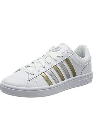 K-Swiss Damen Court Winston Sneaker, White/Silver/