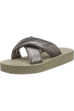 flip*flop Damen Plateau Chic Sandalen, Taupe/Dark Bronze