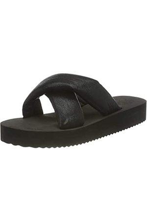 flip*flop Damen Plateau Chic Sandalen, Black/metallic Black