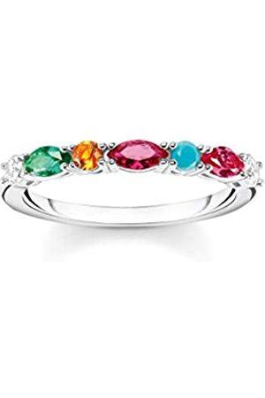 Thomas Sabo Damen Ringe - Ring, Größe 52, Glam & Soul, 925 Sterlingsilber, mit bunten Schmucksteinen besetzt