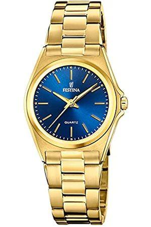 Festina Damen Analog Quarz Uhr mit Edelstahl Armband F20557/4