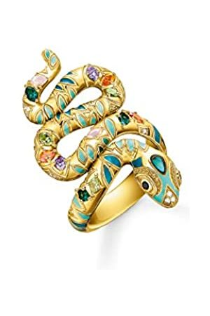 Thomas Sabo Ring, Größe 54, Glam & Soul, 925 Sterlingsilber, im Schlangendesign, vergoldet
