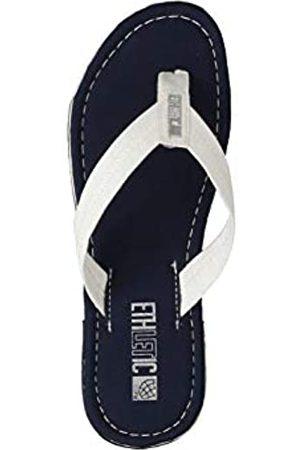 ETHLETIC Unisex Zehentrenner Fair Flip Classic Ocean Blue | just White 36 Fair | Vegan | Nachhaltig