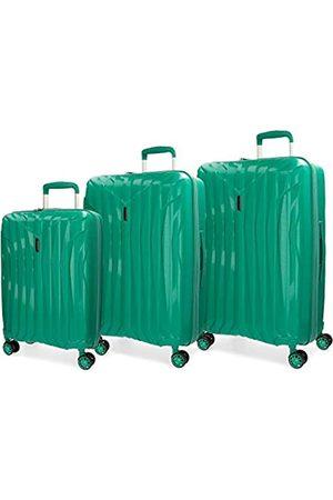 MOVOM Taschen - Fuji Kofferset 55/66/78 cms Hartschalen Polypropylen TSA-Schloss 202L 4 Doppelräder Handgepäck