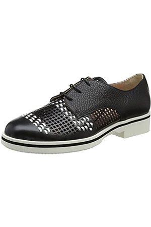 Pollini Damen W.Shoe Oxfords, Mehrfarbig (Ne+Bi+Ag/Bt.Nero 00a)