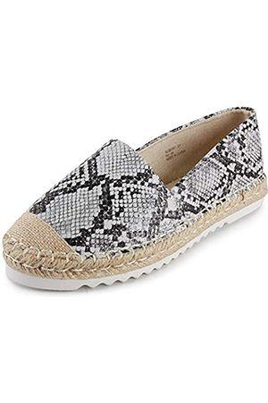 ALEXIS Damen Espadrilles mit geschlossenem Zehenbereich, flache bequeme Schuhe, (Leopardenmuster, )