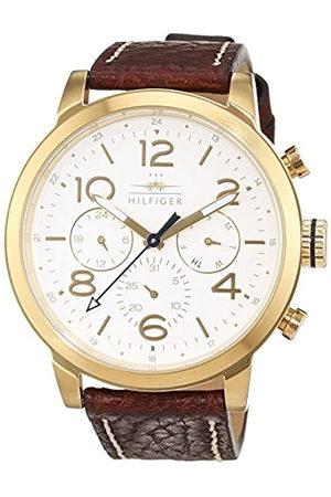 Tommy Hilfiger Herren Analog Quarz Uhr mit Leder Armband 1791231