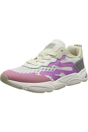 Scotch&Soda Damen Lou Sneaker, White/Purple