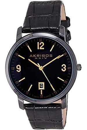 Akribos XXIV Herren-Armbanduhr Analog Quarz AK780BK