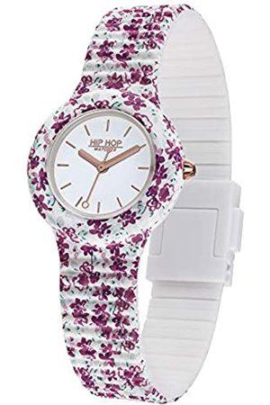 HIP HOP Damen Analog Quarz Uhr mit Silikon Armband HWU0995