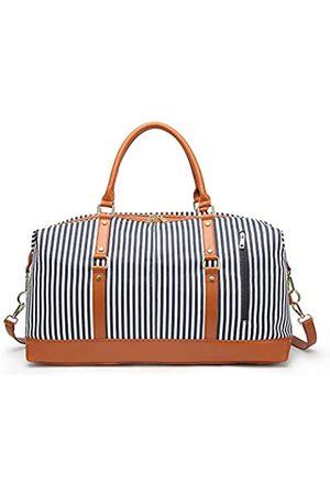 Nobranded Canvas Stripe Reisetasche für Damen und Herren