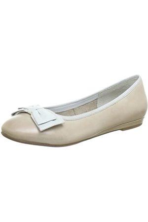 Jana Fashion 8-8-22103-20, Damen Ballerinas, (Cream 403)