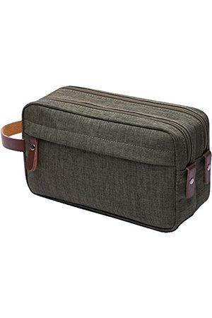 IBLUE Herren Reisetaschen - #B01 Kulturbeutel, für Herren, mit doppeltem Reißverschluss, für Reisen, Badezimmer, wasserdicht, für Rasur, Dusche, Kosmetik