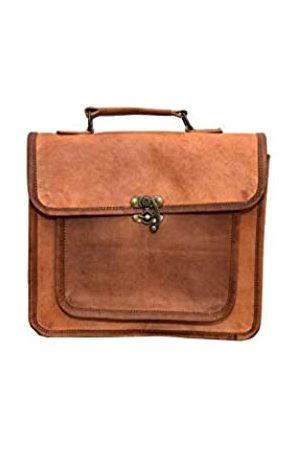 LLB Leather Arts Handtasche aus Ziegenleder aus Unisex für Bürozwecke 05