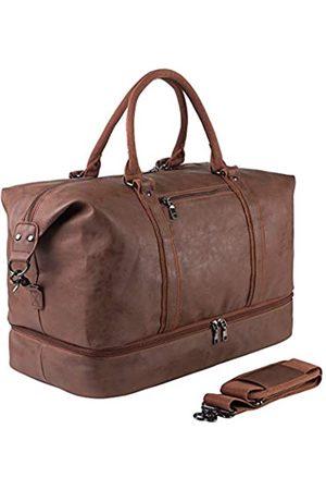 seyfocnia Reisetaschen - Reisetasche für Übernachtungen, Segeltuch-Leder, übergroße Wochenendtasche, große Handgepäcktasche